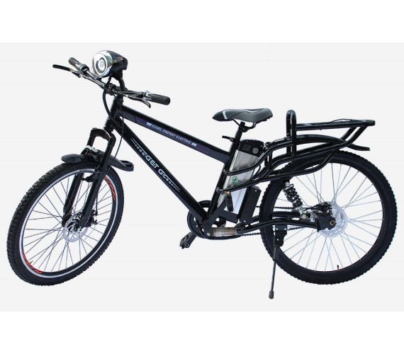 PP INFINITY 48V Electric Bicycle For Adults, 48V Battery Bicycle For Adults With Front/Rear Disk Brakes And Head Light (Frame Size 20) 2 Years Warranty-Black