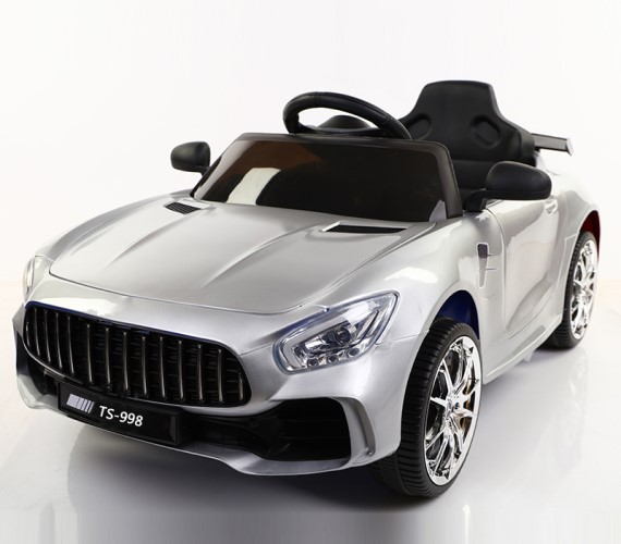 PP INFINITY Mercedes AMG 12V Battery Car For Kids, Model FT-998 Car For kids With Music System and Remote (1 To 5 Yrs) Silver