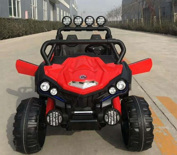 PP INFINITY Kids 903 Big Size 2 Seater Electric Jeep For Kids, 12V Battery Operated Ride on Jeep for Kids with Music System, Swing and Remote Control(Red)