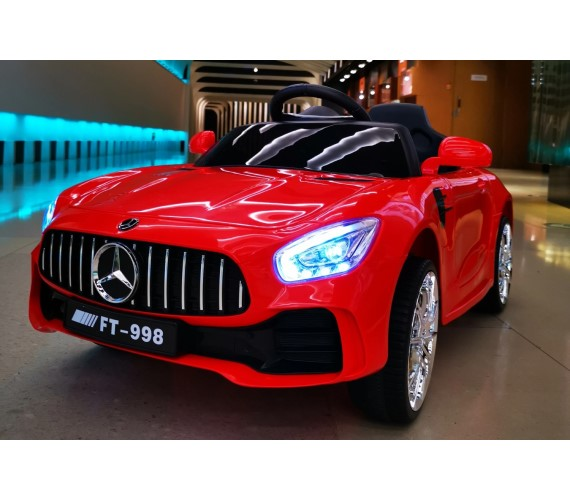 PP INFINITY Mercedes AMG 12V Battery Operated Ride On Car For Kids, Model FT-998 Car For Kids With Music System And Remote (1 To 5 Yrs)Multicolor