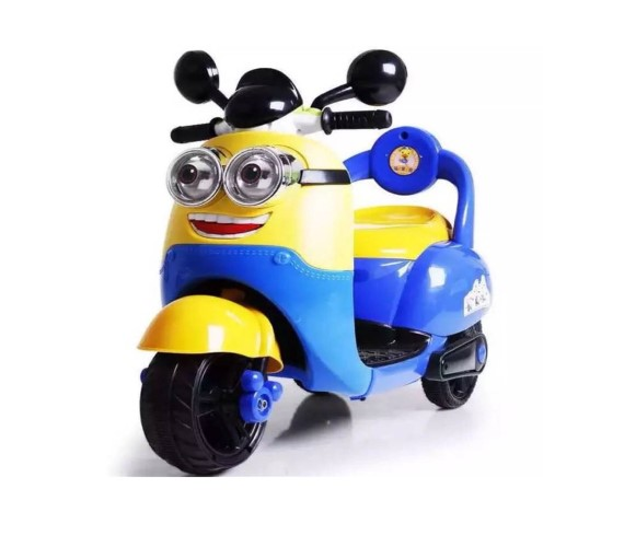 Minion Battery Operated Scooter for kids - Battery Operated Ride On  (Blue, Yellow)