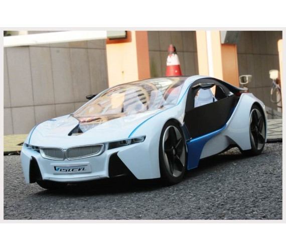 BMW Remote Control Car For Kids, RC Battery Rechargeable Car with opening doors - Blue