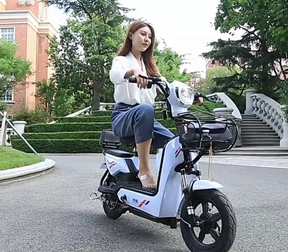 PP INFINITY Electric Scooter Yulu Bike ,48V Battery Scooter For adult, Yulu Bike with Pedal(Up to 40-50Kms) - White