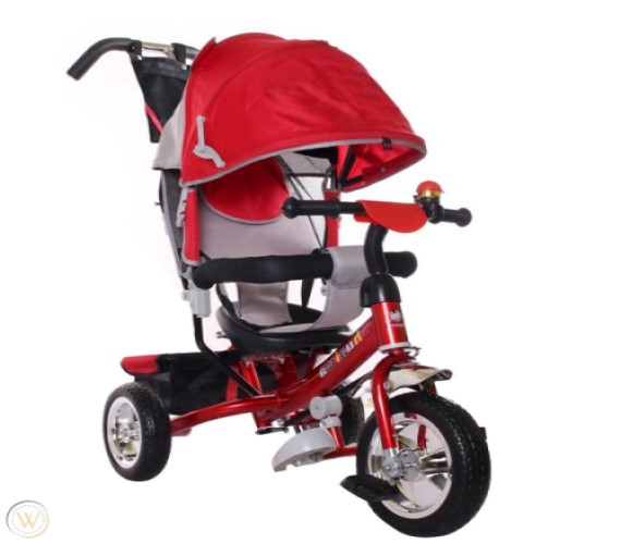 Parent Handle Control Tricycle with Canopy (RED)