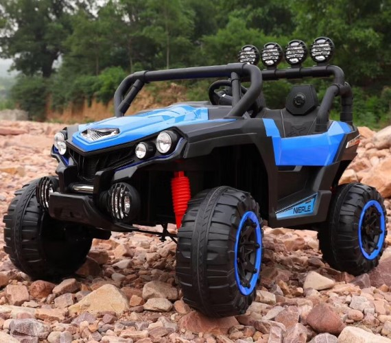 PP INFINITY Kids 903 Big Size 2 Seater Electric Jeep For Kids, 12V Battery Operated Ride on Jeep for Kids with Music System, Swing and Remote Control(Blue)