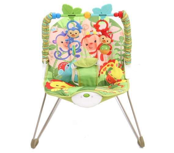 Baby Comfortable Bouncer, Baby Musical Bouncer With Animal Print -Green