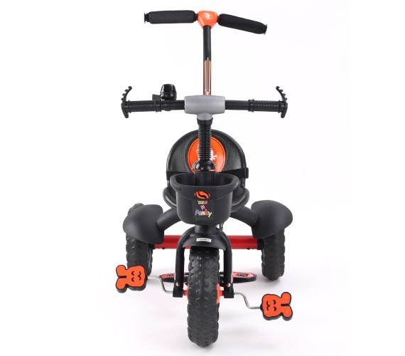 PP INFINITY Tricycle For Kids, Baby Tricycle For 1-4 Years With Rubber Wheels, Baby Tricycle Parental Control Handle(Orange)
