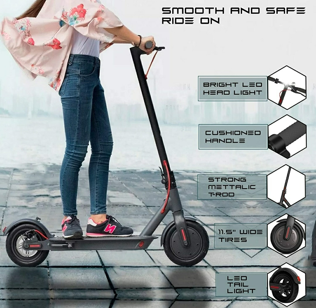 PP INFINITY 36V Electric Scooter with Digital Meter and Electromagnetic drum brake (Foldable) For Youngster and Kids.