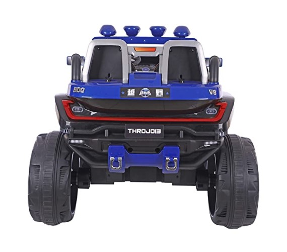 LARGE Size Hummer Ride On Jeep For Kids with Rechargeable Battery , Swing Function And Music System with Remote Control (2 to 8 years), Blue