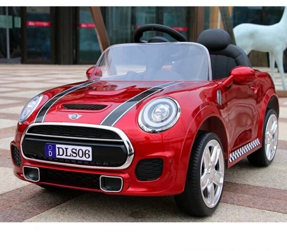 12V MINI Cooper Battery Operated Car For Kids - DLS06 (Metallic RED)