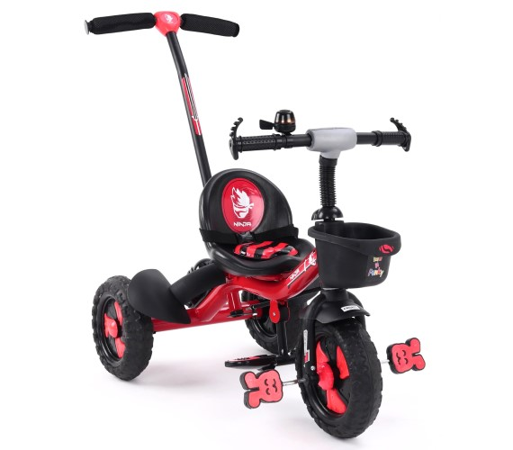 PP INFINITY Tricycle For Kids, Baby Tricycle For 1-4 Years With Rubber Wheels, Baby Tricycle Parental Control Handle(Red)