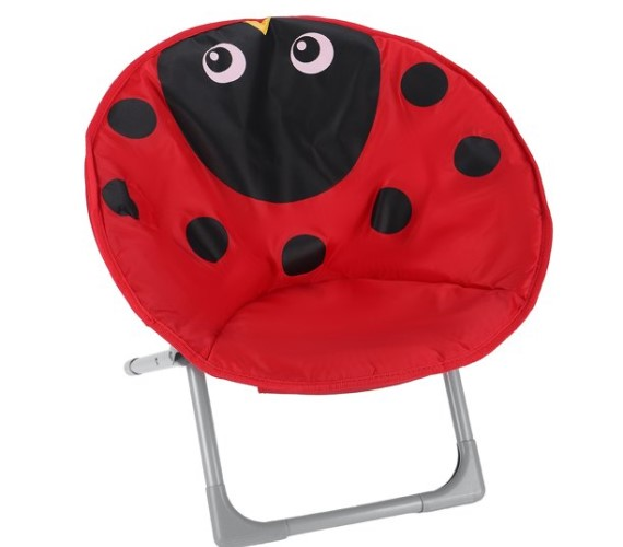 PP INFINITY Cartoon Printed Moon Chair For Kids Baby Moon Chair-(Red)