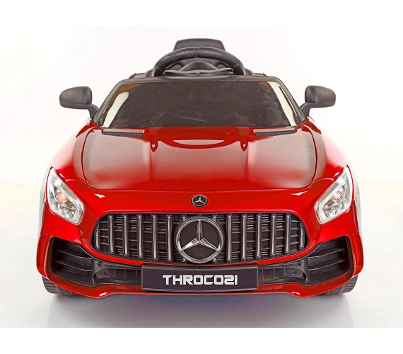 998 AMG Battery Operated Ride On Car For Kids With Remote Control and Music System (Metallic RED)