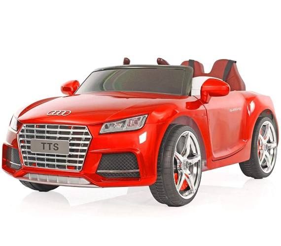 PP INFINITY Audi Tts 12V Battery Operated Ride-On Car for Kids with Remote Control and Music System(2 to 6 yrs)-Painted Red