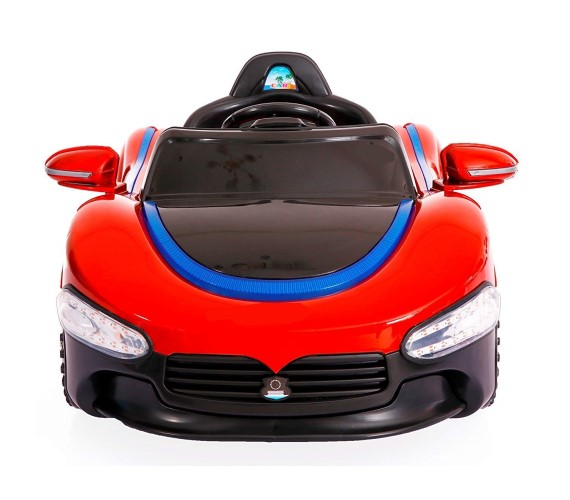 PH518 12V Battery Operated Ride on Car For Kids, Remote Control With Music System and Lights-Red