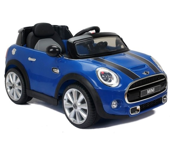 Licensed Model Mini Cooper Battery Operated Car Ride On Car For Kids (Blue)