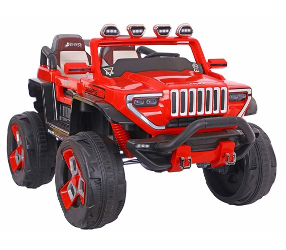 LARGE Size Hummer 1200 Electric Ride On Jeep For Kids with Rechargeable Battery , Swing Function And Music System with Remote Control (2 to 8 years), Red