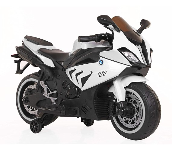 Kids BMW S1000RR Super bike Rechargeable Battery Operated Ride on Bike for Kids, Hand Accelerator(3 to 8 years) White