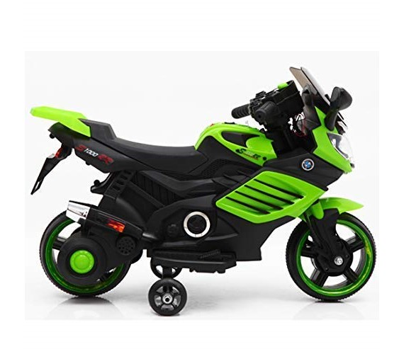 Mini BMW Bike Rechargeable Battery Operated Ride-on Bike For Kids With  Hand Accelerator(2to 4) green