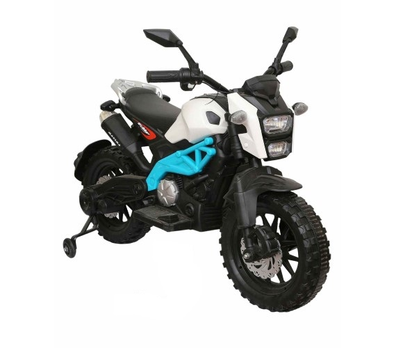 Super Sport Bike 12V Battery Operated Ride on for Kids With Hand Accelerator And Music(3to8)Multicolor