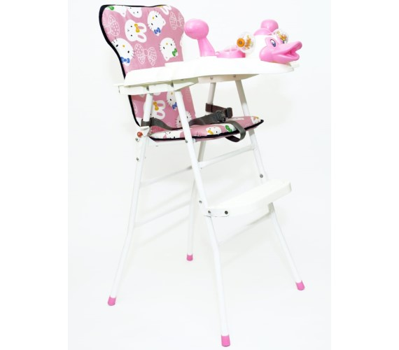 Duck Shape High Chair for Kids Baby Feeding Chair and Foldable Chair (Pink)