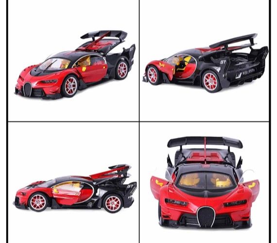 Bugatti Remote Control Car For Kids ,Battery Rechargeable Car with opening doors - Red