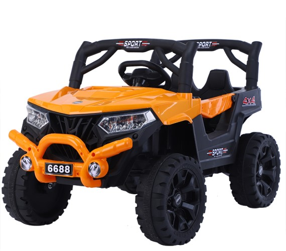 PP INFINITY 12V Battery Ride on Jeep Model 6688, Electric Battery Operated Ride on jeep for Kids with Remote Control (1 to 5 yrs) Orange