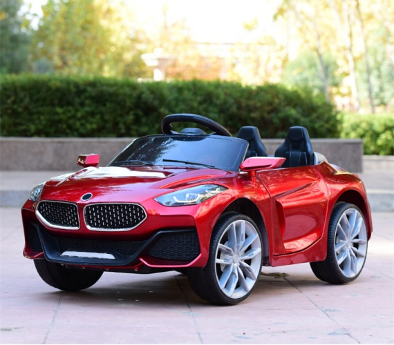 Z4 12V Battery Operated Ride on  Car for Kids 1 to 4 Years with Remote Control , Swing Option, Lights and Music System,(Metallic Red)