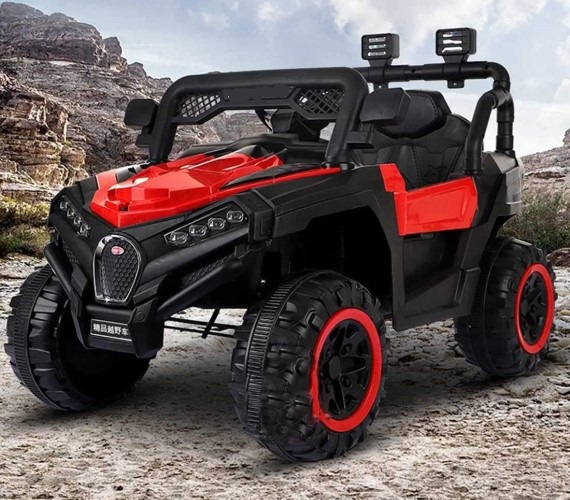 Kids 12V Battery Operated Electric  Ride on Jeep With Remote Control And Music System Model 909 (Red)