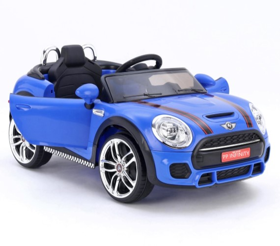 PP INFINITY Mini cooper 12V Battery Operated Ride On Car For Kids, Model Mks-001 - Age 5 yrs (Made in India)-Blue