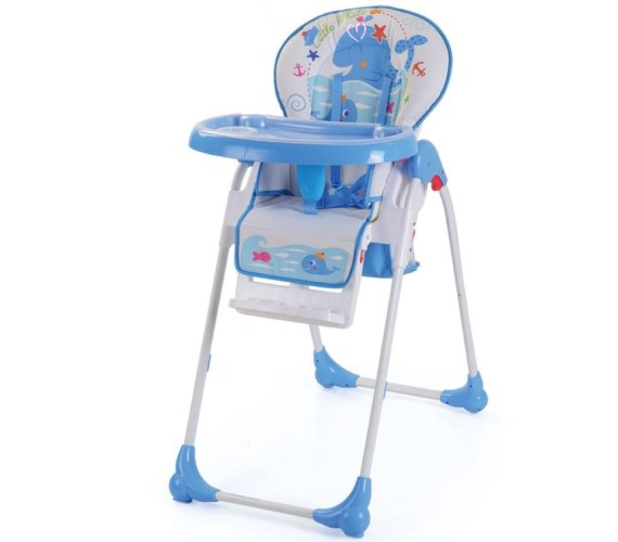PP INFINITY Printed High Chair for Kids, Baby Feeding Chair and Foldable Chair (Blue)