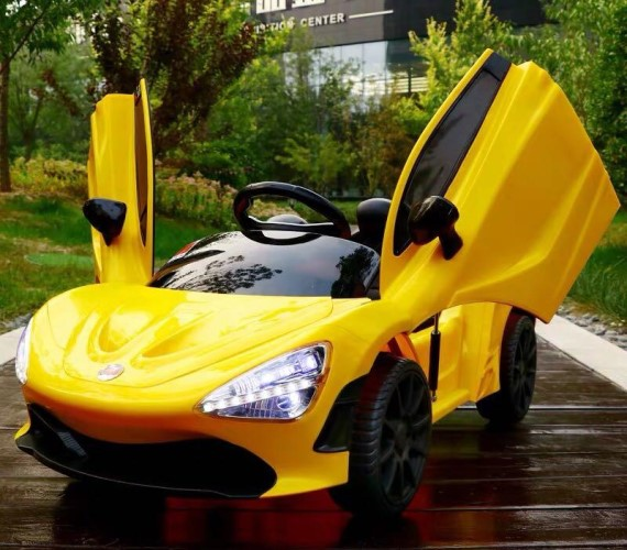 PP INFINITY Electric McLaren Copy Battery Operated Ride on Car for Kids With Remote Control and Smoke - Yellow