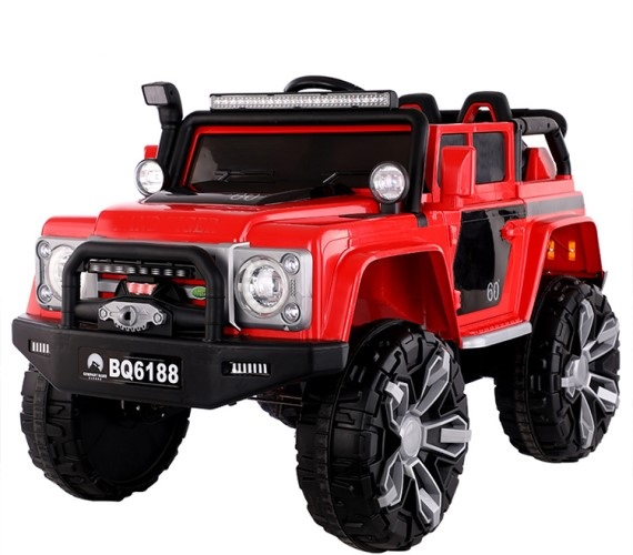PP INFINITY Land Tiger Defender Children Kids Ride on Electric  Jeep with Remote Control Jeep For Kids (Red)
