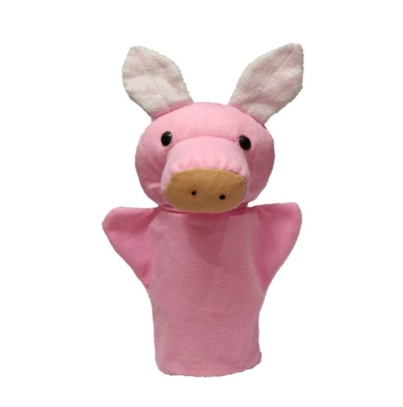 Hand Puppet soft Toy (PIGGY) Height 21 cm