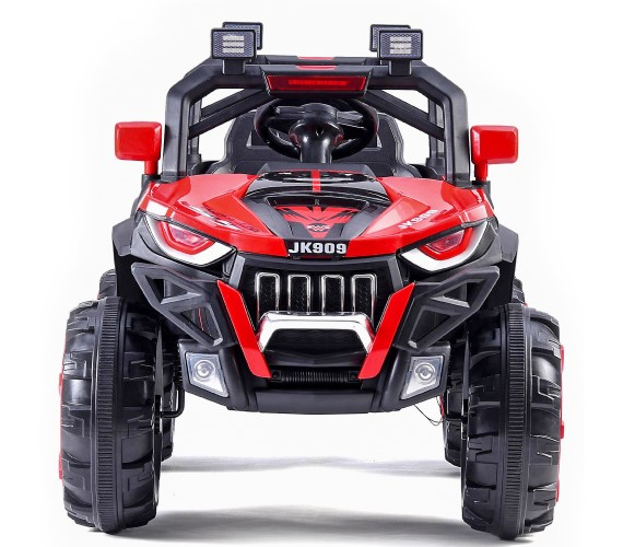 PP INFINITY JK 909 Heavy Duty Electric Jeep, 12V Battery Ride on Jeep For Kids With Remote Control, Additional Upper Bar Headlight(Red)