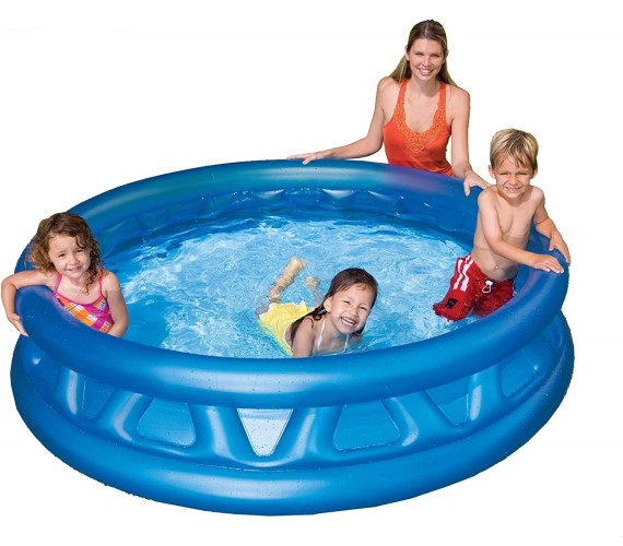 PP INFINITY 6 Feet Round Shape Swimming Pool Inflatable Bath Tubs for Kids, Swimming Bath Tub For Kids-Blue