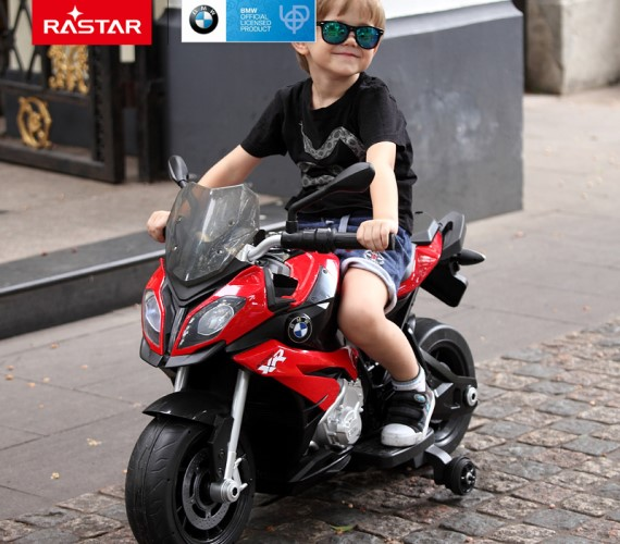 PP INFINITY Officially Licensed Kids BMW S1000XR Bike Battery Operated Ride on Bike for Kids, Hand Accelerator(3 to 7years) Red