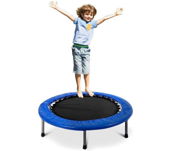4.5 Feet Indoor/Outdoor Trampoline for Kids and Adults, Kids Jumping Mat, Black