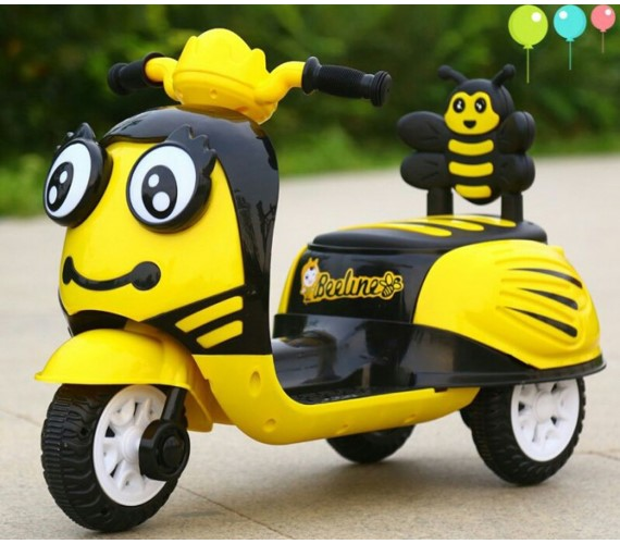 Honey Bee  Battery Operated Ride on Scooty For Kids (Multicolor)