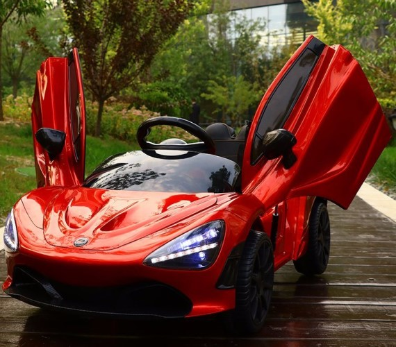 PP INFINITY Electric McLaren Copy Battery Operated Ride on Car for Kids With Remote Control and Smoke - RED