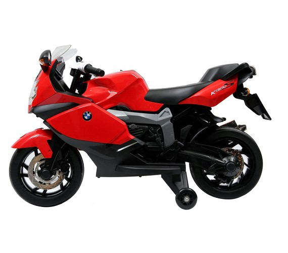BMW Licensed Electric Bike For Kids, BMW K1300S Rechargeable Kids Ride On Bike 12V Battery Operated
