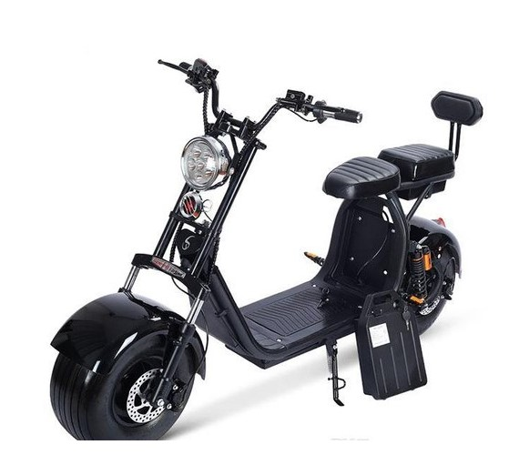 PP INFINITY 60V Electric Coco bike ,Electric Fat Tyre Bike, Yulu Battery Bike For Youngster With Disc Brake-Black