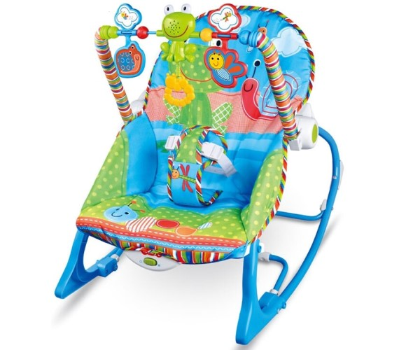 PP INFINITY Baby Comfortable Bouncer, Baby Musical Bouncer With Animal Print-Blue