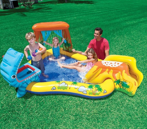 PP INFINITY  Dinosaur Swimming Pool For Kids - Multicolor