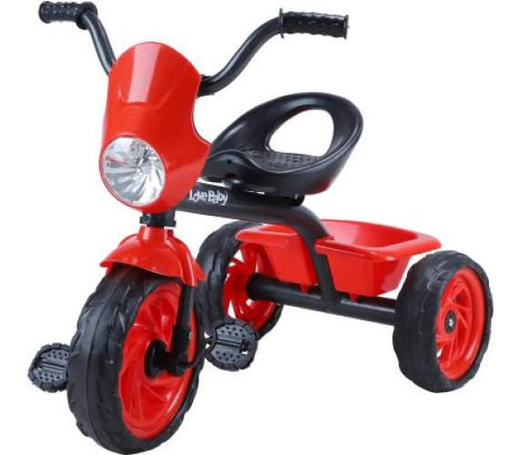 Kids Tricycle Baby Girls/Boys Tricycle With Basket, Light, Music Tricycle For Kids-Multicolor