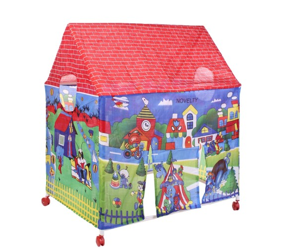 PP INFINITY  Kids  Playhouse  Outdoor Tent House For Garden Print, Fordable Tent House, With Water Proof (Multi-Color)
