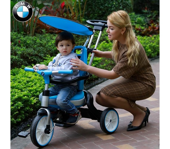 PP INFINITY BMW Tricycle For Baby With Luxury Stroll Blue (BMW Licensed Model)