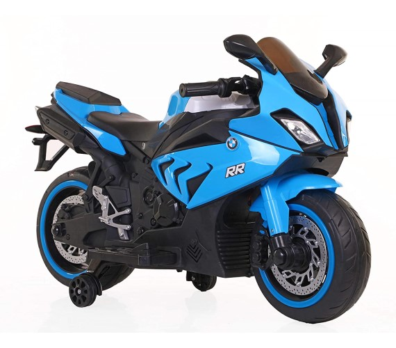 Kids BMW S1000RR Super bike Rechargeable Battery Operated Ride on Bike for Kids, Hand Accelerator(3 to 8 years) Blue