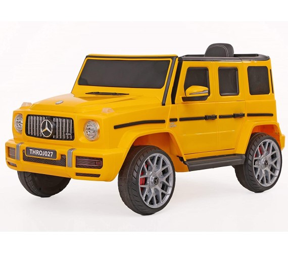 Benz AMG G63 Battery Operated Ride On Jeep Car with Remote control for Kids (2 to 5years ), Yellow