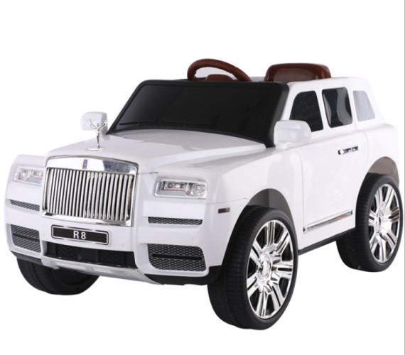Rolls Royce Toy Jeep 12V Battery Operated Ride on Jeep For Kids With Remote Control Electric Motor Jeep Suitable Babies For Boys & Girls Age 2-8(White)